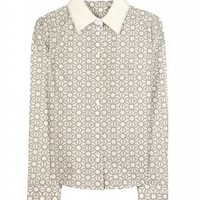 mytheresa.com -  Jil Sander Navy - PRINT BLOUSE  - Luxury Fashion for Women / Designer clothing, shoes, bags