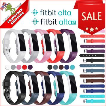 10-Pack Band for Fitbit ALTA & HR Soft Silicone Wristband Adjustable One Size