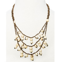 Greenola Style Ivory Acai Tiered Necklace