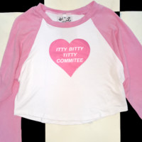 SWEET LORD O'MIGHTY! ITTYBITTYTITTYCOMMITTEE RAGLAN IN PINK