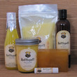 Harry Potter Butterbeer Hufflepuff Themed Gift Set - Bath Salt, Soy Candle, Soap, Lip Balm and Bubble Bath
