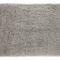 Flokati Rug, Natural Gray, Area Rugs