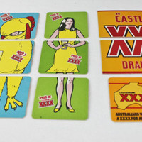 Australian XXXX Castlemaine Beer Coasters, Including 4 Puzzles, Barware, Beer