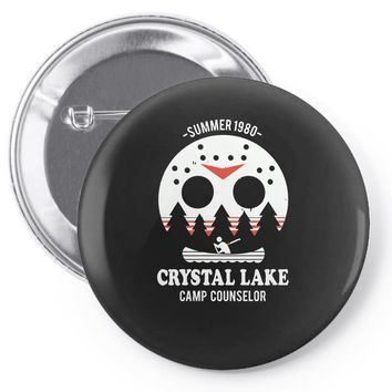 crystal lake camp counselor Pin-back button