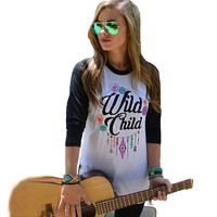 Casual Floral And Letter Print Long Sleeve Color Block Sweater