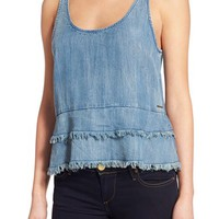 True Religion Brand Jeans Chambray Tank | Nordstrom