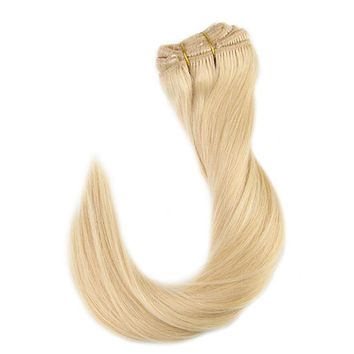 Real Remy Blonde Clip in Hair Extension