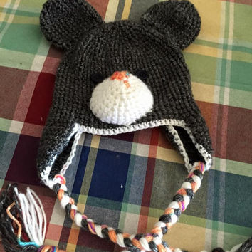Precious Teddy Bear Crocheted Animal Hat