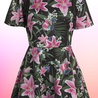 Women's JOYRICH 'Optical Garden' Skater Dress,