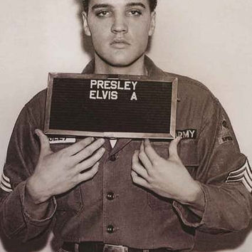 Elvis Presley Army Enlistment Photo Poster 24x36