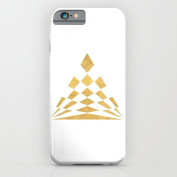 CHECKERBOARD ABSTRACT PYRAMID sacred geometry iPhone & iPod Case by deificus Art