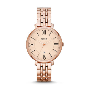 Jacqueline Date Watch, Rose Gold