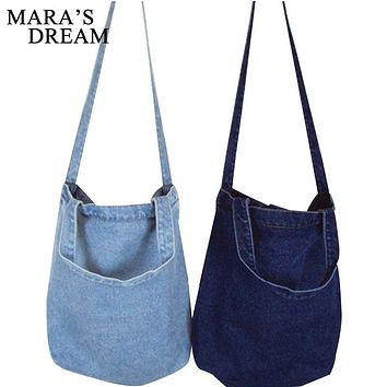 Mara's Dream Women Bag Denim Tote Ladies Large Capacity Brief Handbags Female Shopping Book Teacher Nurse Organizer Shoulder Bag