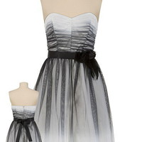 Black and White Ombre Tube Dress - maurices.com