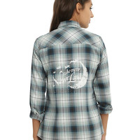 Disney Peter Pan Neverland Plaid Girls Woven
