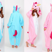 Free Shipping Adult Unicorn Pajamas Pajama Cosplay Unicorn Onesuit Unicorn Costume Animal Pyjamas Unicorn Onesuits Sleepsuit