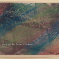 Synesthesia Art, abstract digital art made by a synthesthete, and printed on cardstock, song Bones by Ben Howard