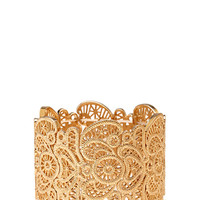 FOREVER 21 Filigree Stretch Bracelet Gold One