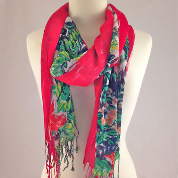 Hibiscus Honeymoon Scarf