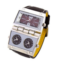 OULM Sports Watches Multiple Time Zone Men's Swimming Wristwatches