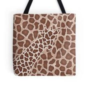 'GIRAFFE' Drawstring Bag by jiggabola
