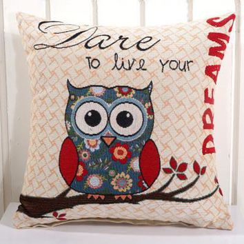Cartoon Handmade Owl Home Decor Pillow Decorative Throw Pillows Cute Drawing 9