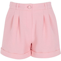 River Island Girls pink tailored shorts