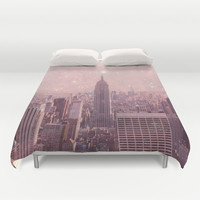 Stardust Covering New York Duvet Cover by Bianca Green   Society6