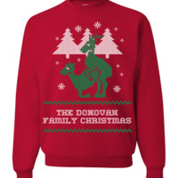 "Personalized Reindeer ""Ugly Christmas Sweater"" Design T-Shirt & Apparel"