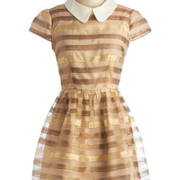 ModCloth Short Length Cap Sleeves A-line Dazzling in the Daytime Dress