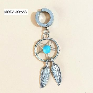 New fake helix Belly Button Rings Surgical Steel Barbell Dream Catcher Navel Body Piercing Jewelry
