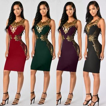 Time-limited O-neck Chandelier Chic Decorative Party Dress S to 3XL