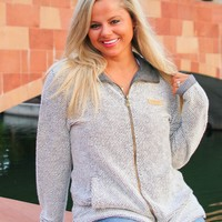 Jadelynn Brooke: Full Zip Boyfriend Jacket {Cream/Grey}