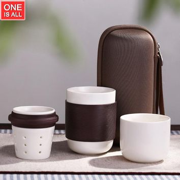 Portable Travel Kungfu Japanese Ceramic Teapot and Coffee Mug Set