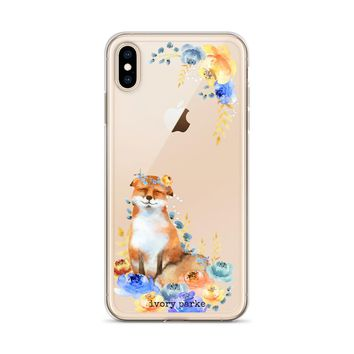 Foxy Queen Floral iPhone Case