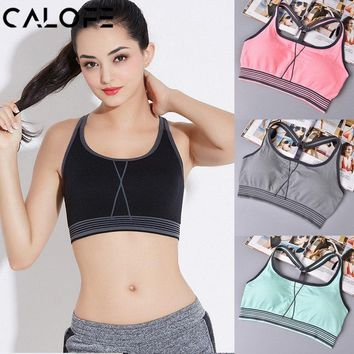 Sexy Women Sports Bra Push Up Workout Vest Athletic Top Fitness Gym Straps Yoga Bra Ultimate Running Sports Shirts Exercise bra