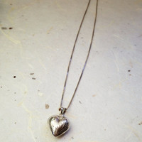 Engraved Heart Pendant in Sterling Silver