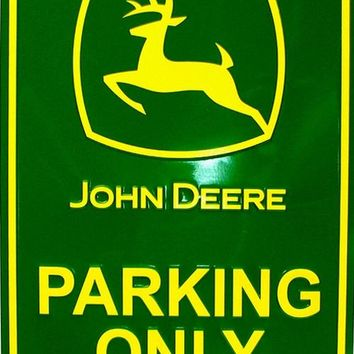 Tin Sign - John Deere  - Parking Only