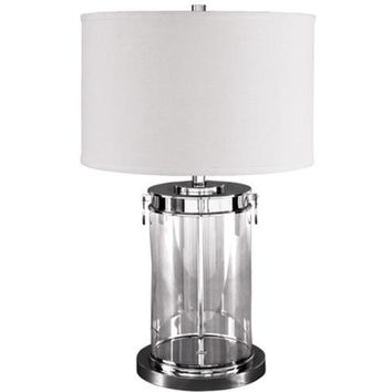 L430244 Tailynn Glass Table Lamp (1/CN) - Clear/Silver Finish - Free Shipping!