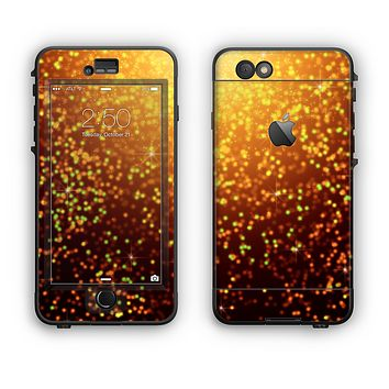 The Bright Gold Glowing Sparks Apple iPhone 6 Plus LifeProof Nuud Case Skin Set