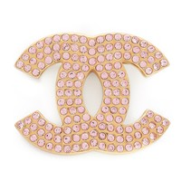 Chanel Rhinestone CC Pin (Previously Owned)