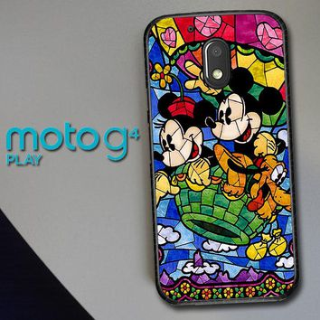 Disney Mickey & Minnie Mouse Stained Glass V0102 Motorola Moto G4 Play Case