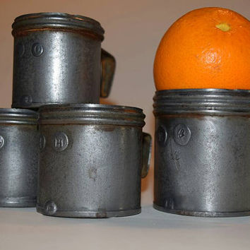 Antique French Wine or Spirit measuring cups