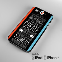 Twenty One Pilots Power to the Local Dreamer Lyrics A0804 iPhone 4S 5S 5C 6 6Plus, iPod 4 5, LG G2 G3, Sony Z2 Case