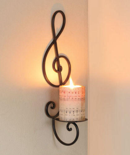 Musical Note Candle Wall Art Sconce Music From Cornerstone