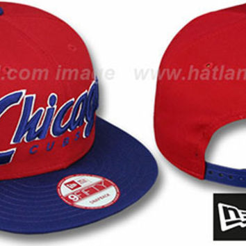 Cubs SNAP-IT-BACK SNAPBACK Red-Royal Hat by New Era