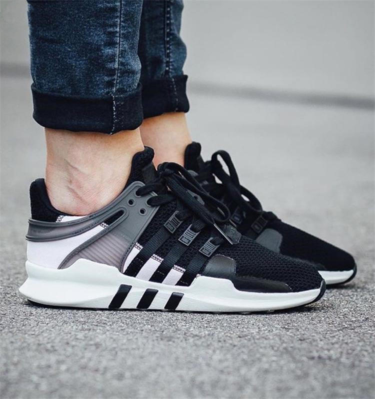 wholesale dealer ab612 b9a5b get women adidas equipment eqt support adv black and pink casual sports  shoes e4174 76f8f
