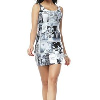Star Wars Manga Pattern Mini Dress