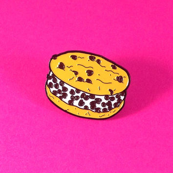 Chipwich Chocolate Chip Cookie Ice Cream Sandwich - Enamel Pin