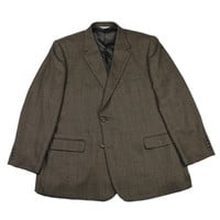 Joseph and Feiss Brown Houndstooth Check 2 Button Sport Coat Jacket Mens Size 50L